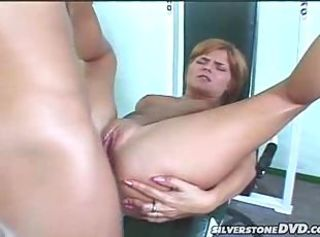 Red head get her ass fucked and get caught on spycam in here