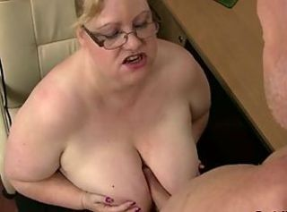 Mean BBW boss takes advantage of a guy _: bbw big boobs hardcore