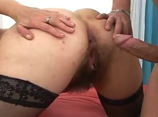 Doggystyle Hairy MILF Stockings