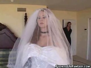 Bride gets anal before her wedding