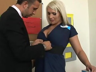 Big Breasted Delivery Babe Sadie Swede Getting Fucked In The Office