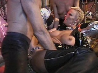 Kinky Goth Sluts Get Anal Fucked and Creampied in a BDSM Threesome