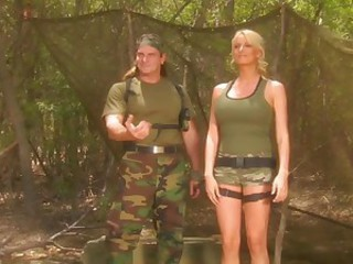 Army Babe Blonde Cute Uniform