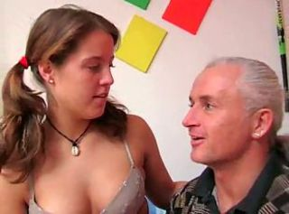 Amateur Brunette Cute German Lingerie Old and Young Pigtail Small Tits Teen