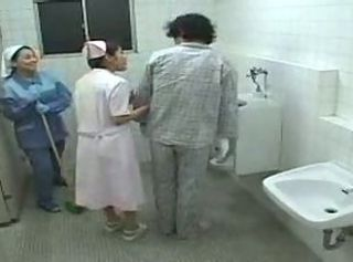 Japanese Mature Nurse Toilet Uniform