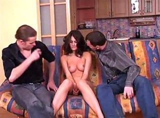 Amateur Brunette Cute Small Tits Teen Threesome