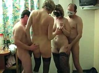 Amateur Ass French Mature Party Stockings Threesome