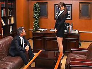 Junna Aoki forced to show her pussy to the horny principal