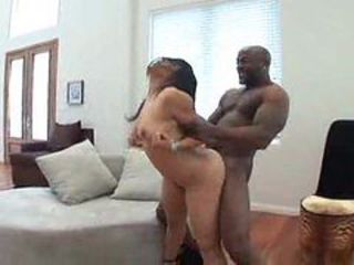 Marvelous girl is penetrated by black dick
