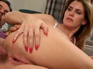 Beautiful mama handling 2 raging dicks