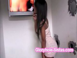 Amazing Ebony Gloryhole Pornstar Teen