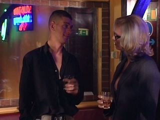 Bartender in hot threesome with two horny customers