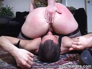 Mistress smothers slave using her cellulite-stricken ass cheeks