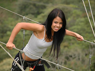 Babe Brunette Cute Latina Outdoor Sport Teen