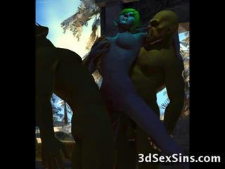 Ogres, aliens, dwarfs and other strange creatures seeking for fresh cunts find some cute 3d babes and elven princesses to fuck hard