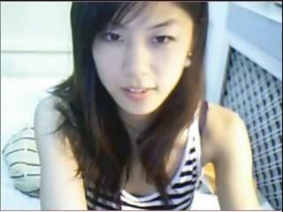 Cute Chinese girl plays on li...