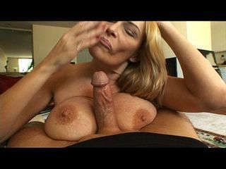 Mature whore swallows a young...