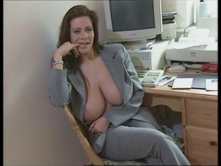 Amazing Big Tits British European MILF Office Secretary
