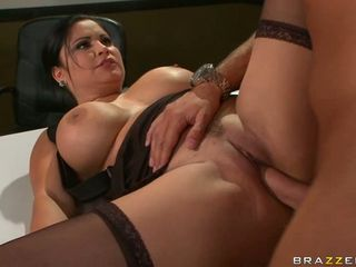 Amazing Big Tits Brunette Hardcore Office Pornstar Secretary Stockings