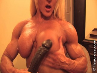 Big Tits Dildo MILF Muscled Toy