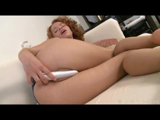 Vibrating dildo fucks her...