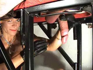 Brutal milking of her...