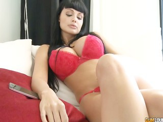 Amazing Big Tits Brunette Cute Lingerie Long hair MILF Pornstar Silicone Tits