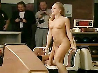 Sara St James nude bowling with...