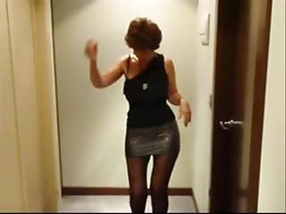 Excited Mature Babe Stripping And Sucking