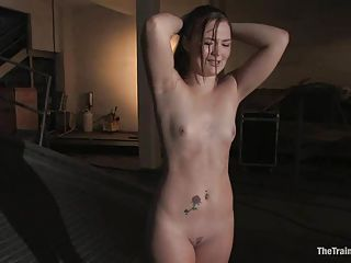Sexy Slave Savannah West Hits Her Knees And Bows Down To Her New Maste...
