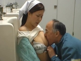 Asian Licking Nurse Old and Young Small Tits Uniform