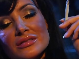 Amazing Brunette MILF Pornstar Smoking