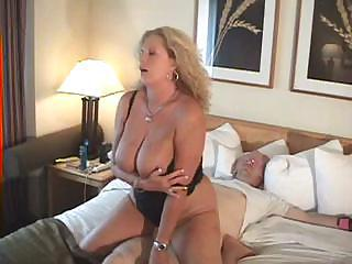 Mature Woman Ties Her Hubby Up And Attacks His Sturdy Cock