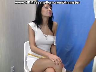 Exotic Brunette In Massage Sex Action