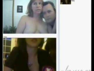 A Foursome Over Webcam!
