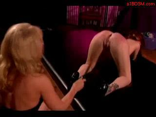 Redhead Girl Whipped Getting Her Pussy Stimulated Wi...