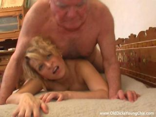 This chubby grandpa Matthias is playing sick yet again luring another silly nubile girl into his apartment to shock her with a view of his hairy body and firm veteran cock. Making the old fart so horny had Natalie feeling exceptionally sexy and
