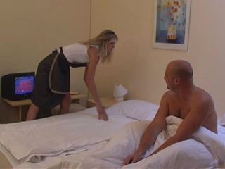 Blonde Maid MILF Pornstar