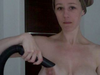 Mom Vacuums Cock...