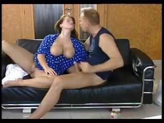 Busty German MILF giving head...