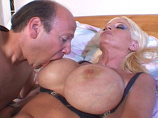 Amazing Big Tits Blonde MILF Silicone Tits