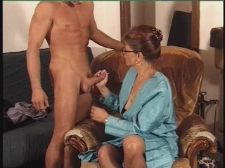 European French Glasses Handjob Mature Old and Young