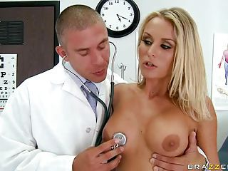 Irresistibly Sexy Blonde Laura Crystal Gets Naked To Get Her Big Boobe...