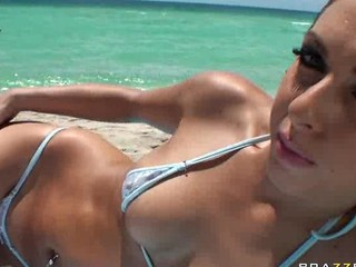 Amazing Bikini Cute Outdoor Pool Pornstar