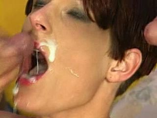 she gags on cum