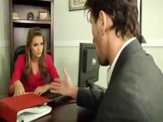 Blonde MILF Office Pornstar
