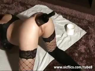 Ass Extreme Insertion Lingerie Stockings