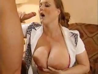 Busty German Gal Eats Up That Cock To Fuck And Get A Mouthful