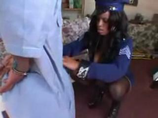 Big Booty Cop Chases A Mischevious Midget
