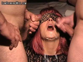 Wife cum drenched by 20 guys